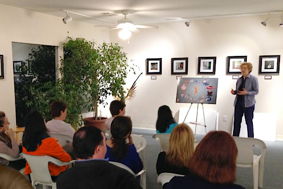 """Sofia Wellman fascinates the workshop audience on the book """"If The Shoe Fits, Go Barefoot"""""""