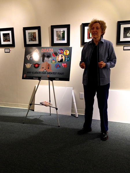 """Sofia Wellman touches on her film """"Death As Life"""" during her workshop on """"If The Shoe Fits, Go Barefoot"""""""