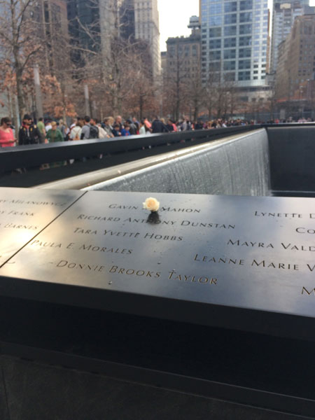 "Sofia Wellman visits the 9/11 Memorial in NYC during post production for the film ""What's Love Got To Do With It"" Film by Sofia Wellman"