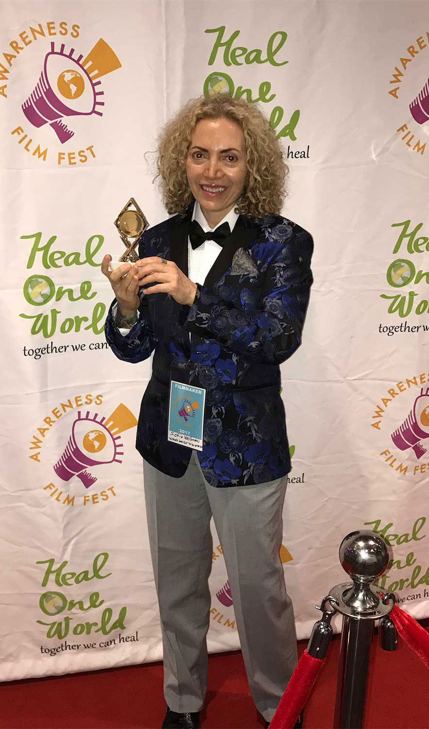 Sofia Wellman - Won Merit Award Of Awareness - The Awareness Film Festival - 2017 - Whats Love Got To Do With It - Film by Sofia Wellman