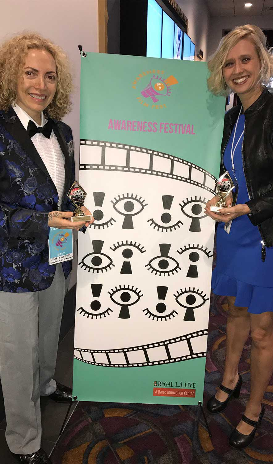 Sofia Wellman - Meets Fellow Filmmaker - Whats Love Got To Do With It - Film by Sofia Wellman - Merit Award Of Awareness - The Awareness Film Festival - 2017