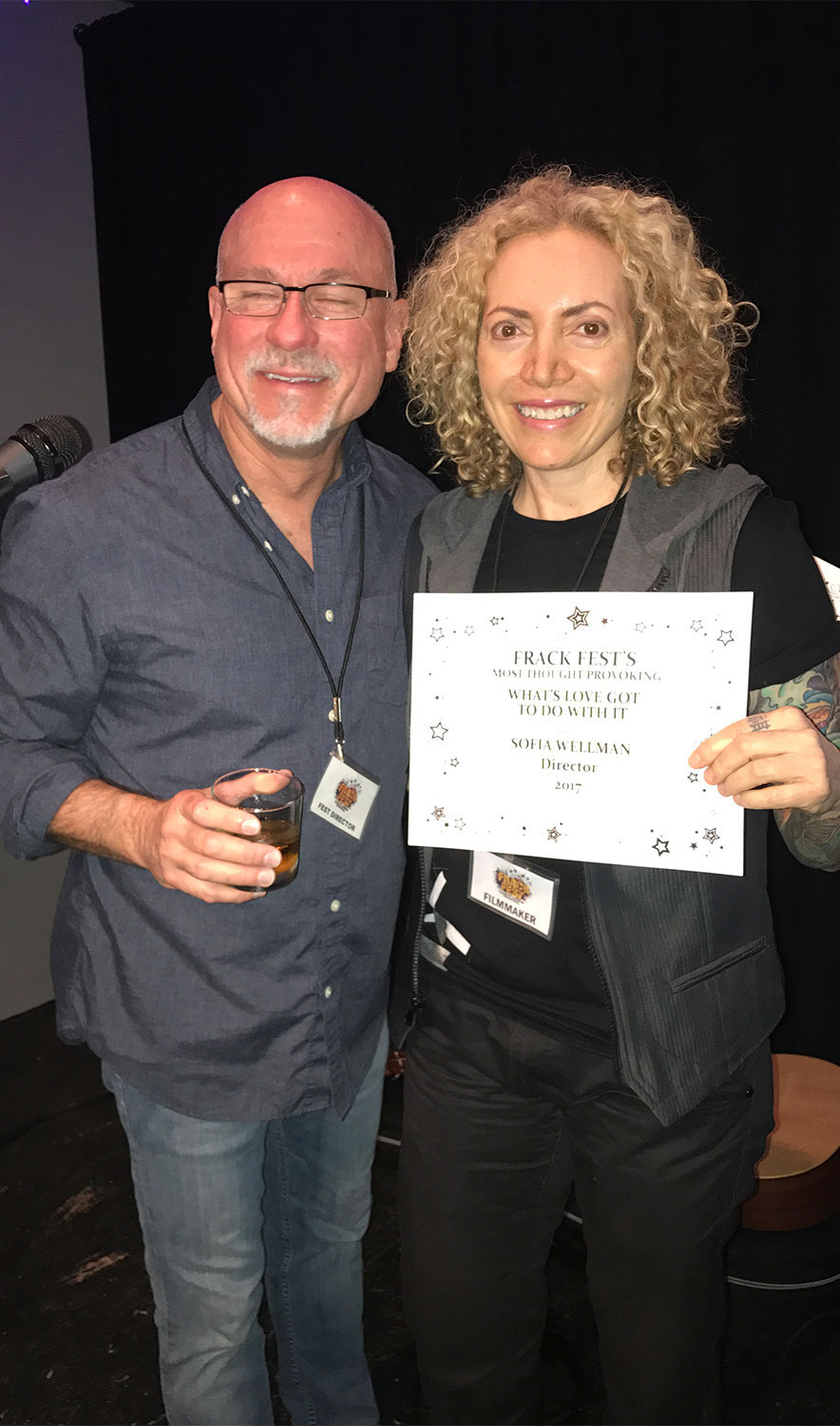 Sofia Wellman -Won Most Thought Provoking Documentary Film - Frack Fest - 2017 - Whats Love Got To Do With It - Film by Sofia Wellman