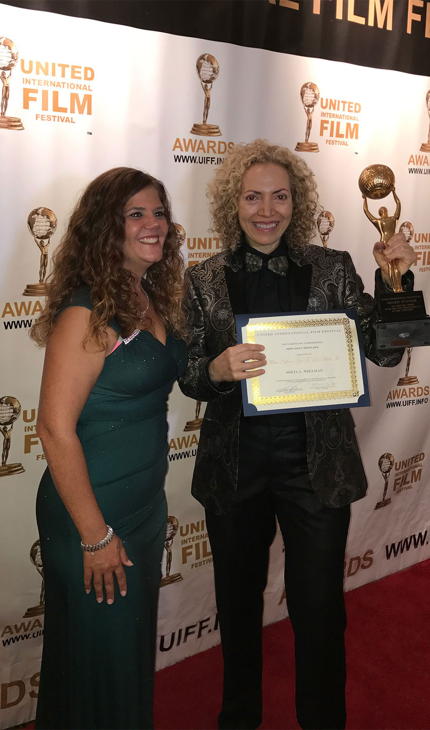 Sofia Wellman - Award For Best Documentary Film - United International Film Awards - 2017 - Whats Love Got To Do With It - Film by Sofia Wellman