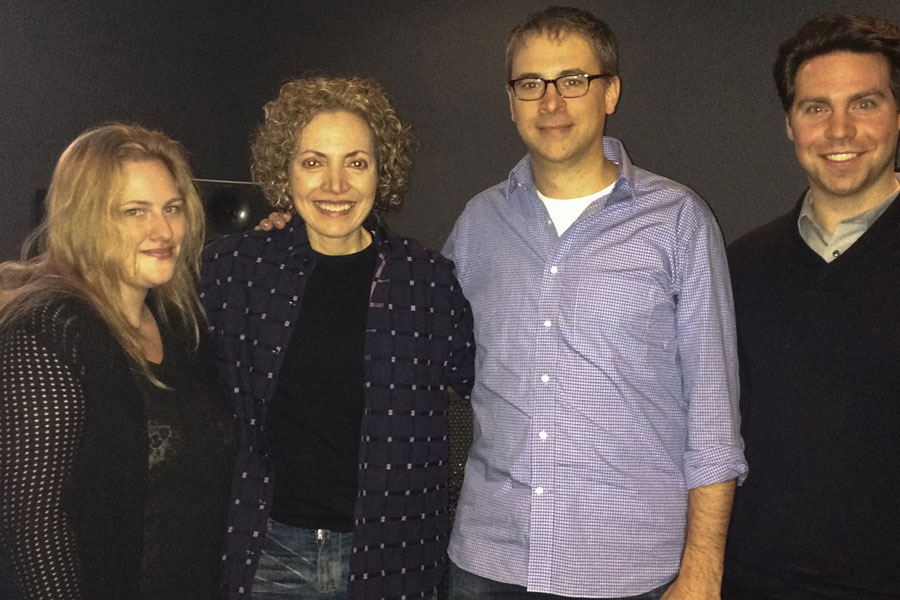 "Sofia Wellman with post production team in NYC for the film ""What's Love Got To Do With It"" Film by Sofia Wellman"