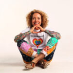 Sofia Wellman - Love Whoever You Want Rainbow Heart Shirt