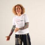 Sofia Wellman - Love More Fight Less Heart Semicolon Shirt
