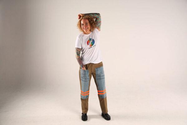 Sofia Wellman - Love More Fight Less Rainbow Hand-in-Hand Shirt