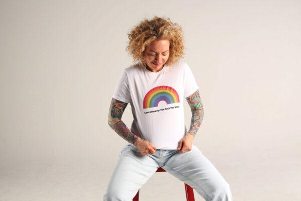 Sofia Wellman - Love Whoever The Fuck You Want Rainbow Shirt